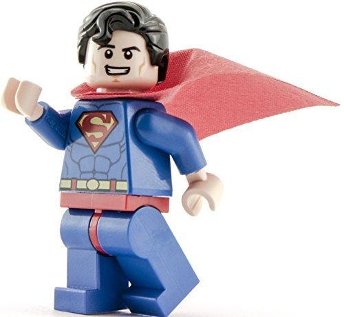 ECHT Lego DC Superhelden Smiling SUPERMAN Minifigur - teilung von Junioren 10724 set
