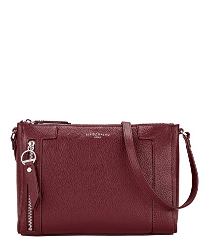 Liebeskind Berlin Damen L-Bag Crossbody Umhängetasche, red wine-3980, 10x19x27 cm