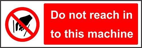 Label - Sécurité - Avertissement - No acceda a esta máquina Letrero de seguridad - 30x10cm- bureau, entreprise, école, hôtel