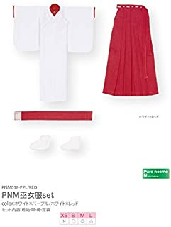 Pure Neemo M size PNM shaman Clothing Set White ~ Red (Doll Clothing)