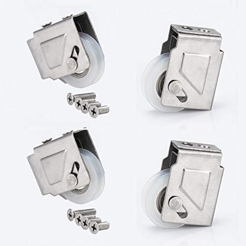 Door wheel Rouleaux De Fenêtre Coulissante en Alliage Coulissant De 1,1 Mm D'épaisseur, Accessoires De Quincaillerie De Roue en Nylon, Réglables en Hauteur, Un Paquet De Quatre