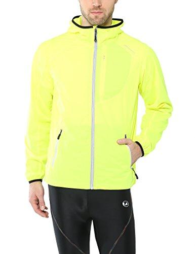 Impermeable amarillo de hombre multifuncional