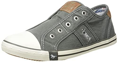 MUSTANG Damen 1099-401-72 Slip On Sneaker, grün/grau, 41 EU