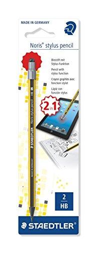 Staedtler – Noris Stylus 180 21 – blister 1 potlood Graphit Wopex HB geel/zwart met eindstuk invoerstift