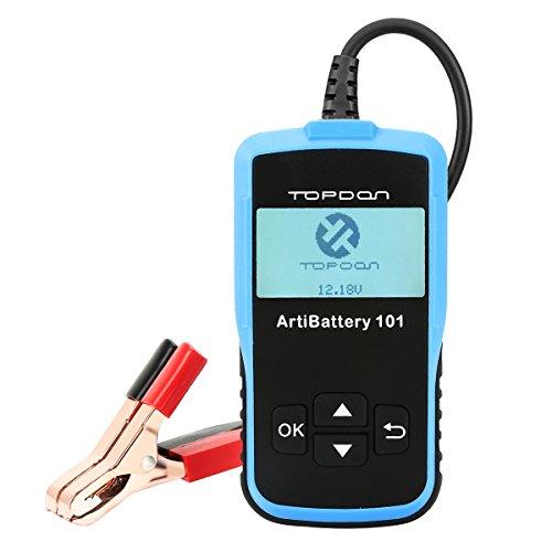 TOPDON AB101 100-2000 Probador y Medidor de la Batería de Automóvil SUV y Ligeros de 12v Test Carga y Sistema de Arranque