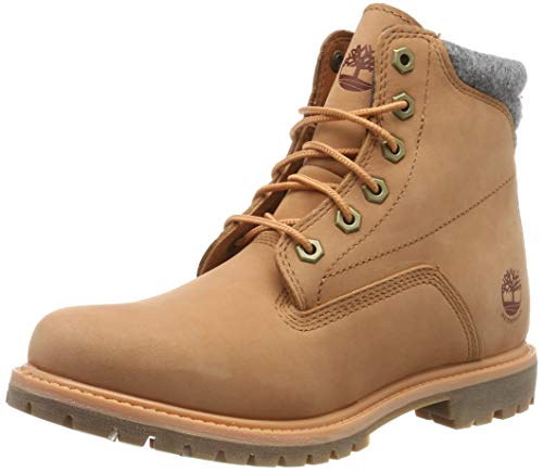 Timberland Damen Waterville 6 Inch Basic Waterproof Stiefel, (Light Orange Nubuck), 41 EU