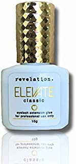 Elevate Extra Strong Bond Classic Eyelash Extension Glue (10g) 1 second dry time, holds up to 6 weeks. Professional use only. Eyelash extension supplies that work. Revelation Lash Extension Products.