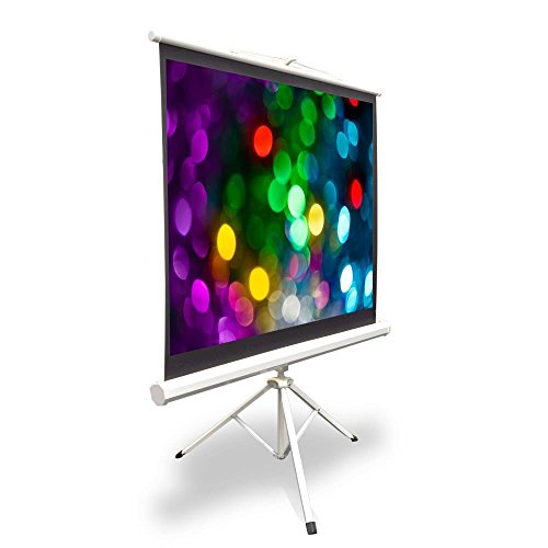 Portable Projector Screen Tripod Stand - Mobile Projection Screen , Lightweight Carry & Durable Easy Pull Assemble System for Schools Meeting Conference Indoor Outdoor Use, 40 Inch By Pyle (PRJTP42)