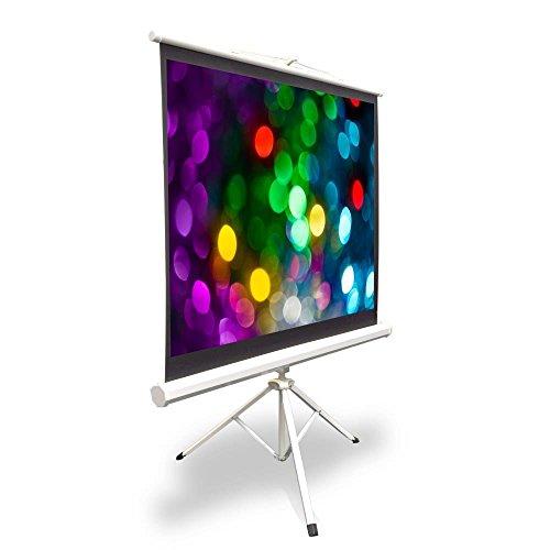 Pyle PRJTP42Pantalla para Video proyector, Plegable y Enrollable fácilmente, Estilo trípode, 101.6cm