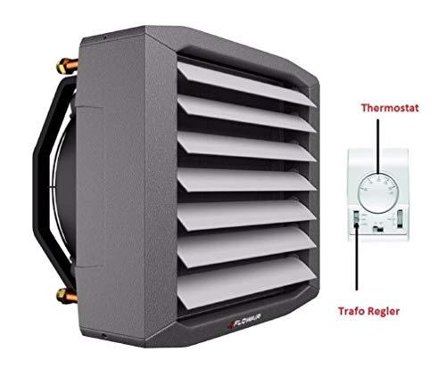 Lufterhitzer 3,2 bis 65,2 kW EUROVENT getestet Drehzahltraforegler Thermostat Heizregister Luftheizung Hallenheizung