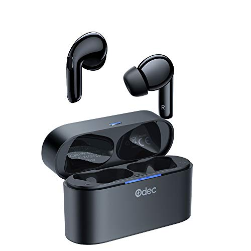 Odec Hybrid ANC & ENC TWS Noise Canceling Headphones Stereo Wireless Headphones with Sport Mode and Gaming Mode 35H Battery Life IPX8 4 Microphones Clearer Calls On-Ear Bluetooth 5.2, Super Deep Bass