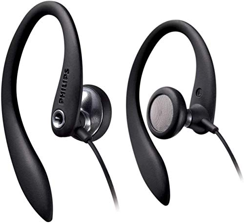 Philips SHS3300BK/10 Auriculares intrauditivos con cable (Bass Beat, Clips flexibles, Cable de 1,2 m), Color negro