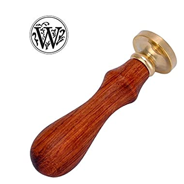 Classic Wooden Letter W Alphabet Letter Initial Wax Classic Sealing Wax Seal Stamp