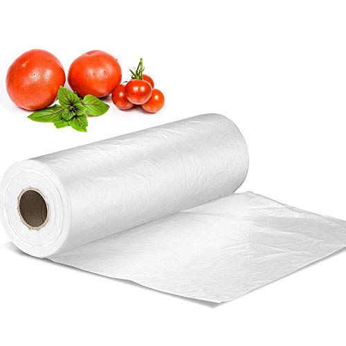 Plastic Produce Bag Roll 12 X 16 inch , Vegetable Food Bread and Grocery Clear Bag, 350 Bags/Roll (1)