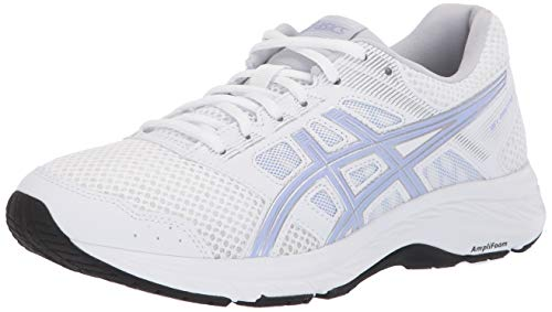 ASICS Women's Gel-Contend 5 Running Shoes, 8, White/Vapor