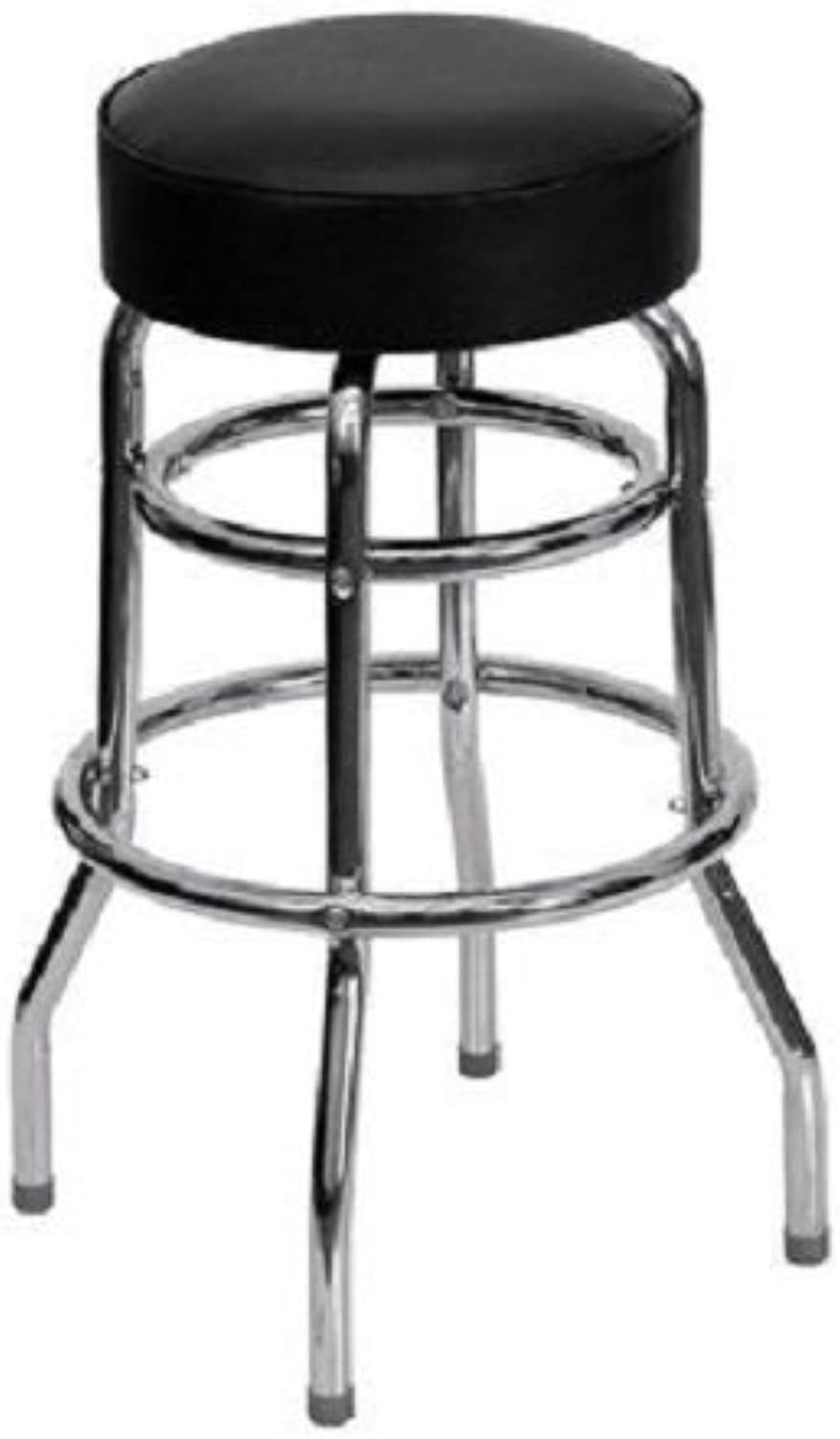 Flash Furniture Double Ring Chrome Bar Stool
