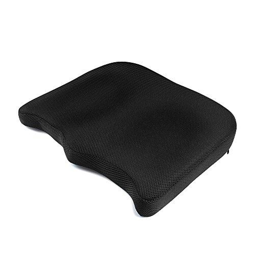 IKSTAR 座布団 低反発 クッション オフィス 椅子 車用 自宅用 プレゼント RoHS安全基準クリア 座り心地抜群 カバー洗える 通気性 シートクッション