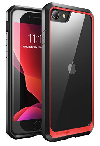 SUPCASE Custodia iPhone SE 2020 / iPhone 8 / iPhone 7, Cover Antiurto [Unicorn Beetle] Clear Case per iPhone SE 2020 / iPhone 8 / iPhone 7, Rosso/Nero