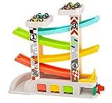 Small Foot Company-11361 Pista de Carreras con Aparcamiento y garajes,Juego de 4 Plantas,Cuatro Coches y una gasolinera,a Partir de 3 años juguetes, Multicolor (11361) , color/modelo surtido