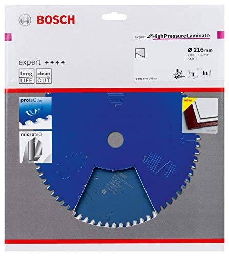 Bosch Professional Kreissägeblatt Expert for High-Pressure Laminate (für Hochdrucklaminat, 216 x 30 x 2,8 mm, Zubehör Kreissäge)