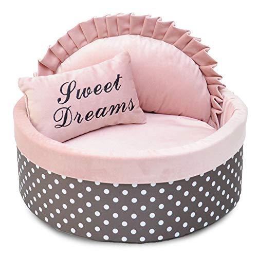HIUHIU Katze Haus Dot Luxus Katze Nest Nette Form Welpen Hund Bett Cave Mit Kissen Baumwolle Matte Mehrzweck Haustier Haus Katze Zubehör