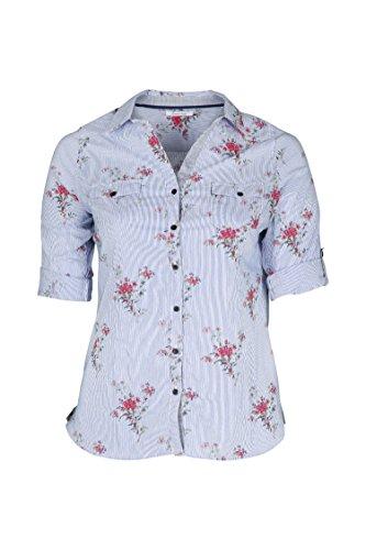 PAPRIKA Damen große Größen Gestreifte, mit Blumen Bedruckte Bluse Multi 4 (50)