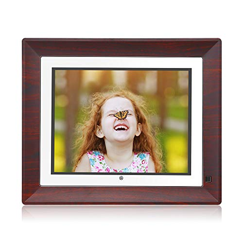BSIMB Digital Picture Frame Digital Photo Frame 9 Inch IPS Display 1067x800(4:3) Hi-Res Digital Photo & HD Video Frame with Motion Sensor USB/SD Card Playback Calendar Remote Control M09(None WiFi)