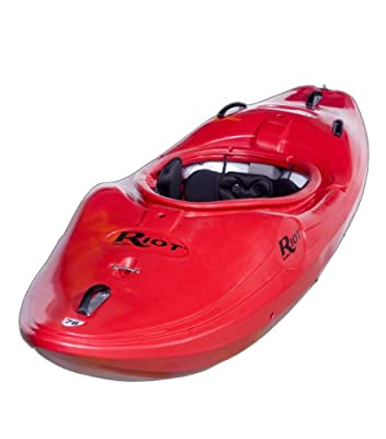 Thunder 76 Riot Kayaks Red Thunder 8ft Whitewater River Running Kayak