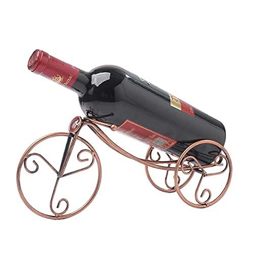 BANNESE Botelleros De Vino Metalicos Retro Bicicleta Estantería De Botellas De Vino Creativo Artesanía Soporte De Exhibición, para Bar Oficina Sala De Estar Decoración De Arte