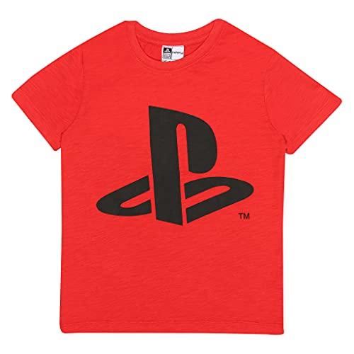Playstation Jugador 1 Camiseta de los Muchachos Rojo 134   Las Edades de 6-15, los Regalos del Videojugador, Niños PS4 PS5 Juego Top, Ropa para niños, Idea del Regalo de cumpleaños de los niños