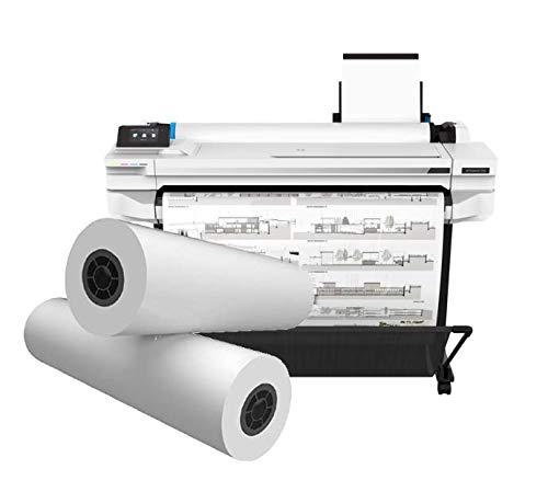 HP DesignJet T530 Printer and Alliance CAD Paper Rolls- Bundle