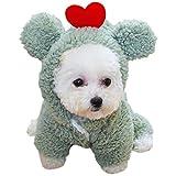 SalLady Perro Abrigo De Invierno Térmica Moda Corazón Soft Puppy Sudadera con Capucha Pet Ropa De Mascota con Capucha Lavable Lava Linda Transpirable
