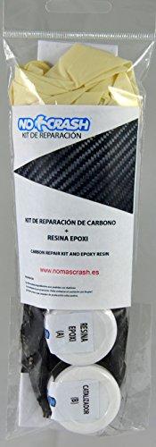 No+Crash Kit XL REPARACIÓN Palas Padel, Surf, Bicicletas ETC - 15CM Carbon Repair Kit + Resin and Gloves