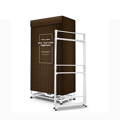 CAIJINJIN Perchas Airers ropa interior climatizada de ropa eléctrica 1300W secadores portátiles de secado de la máquina - Temperatura constante de 10 kg 2 capas de gran espacio con sincronización auto