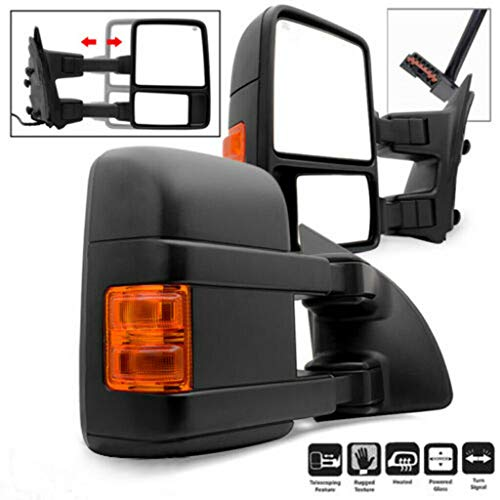 Find Discount Set of Power+Heated+Turn Signal+Side Mark Light L+R Tow Mirrors, Compatible with Ford ...