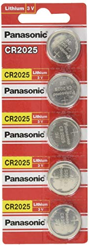 Panasonic 5pezzi–-Batteria al litio a bottone 3V CR2025DL2025ECR2025