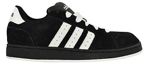 adidas Men's G10010 Tapper Classic Skateboarding Shoes, Black/White, 13 D(M) US