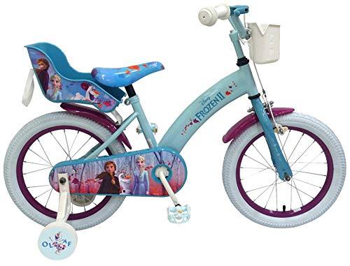 Kinderfahrrad Disney Frozen II - Die Eiskönigin 2 16 Zoll | Rücktrittbremse Korb Puppensitz