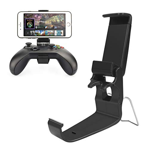Moulis Xbox One Controller Holder, Xbox Phone Mount, Foldable Controller Mobile Phone Holder/Smartphone Cellphone Clamp/Clip for Xbox One/S/X/SteelSeries Nimbus/Stratus XL/Steam Controllers