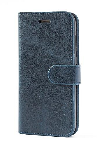 Mulbess Handyhülle für Huawei P8 Lite 2017 Hülle, Leder Flip Case Schutzhülle für Huawei P8 Lite 2017 Tasche, Dunkel Blau