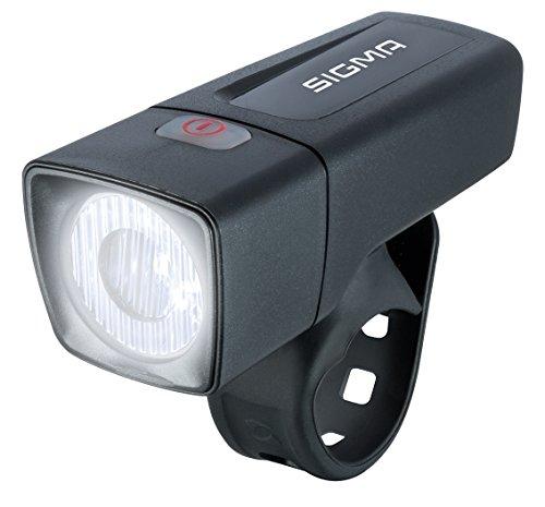 Sigma Sport LED Batterie Fahrradbeleuchtung AURA 25, 25 LUX, batteriebetriebene Fahrradlampe, StVZO zugelassen, Schwarz