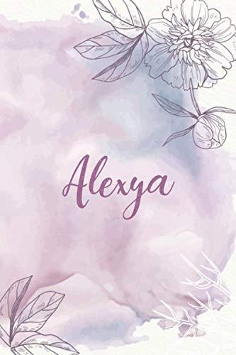 Alexya: Cahier personnalisé au design floral   Cadeau prénom Fete des mères   journal intime merci livre   Idée cadeau pour le meilleur ami   Cadeau individuel pour femmes et filles