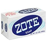 (Pack of 14 Bars) Zote White Laundry Bar Soap, with Even More Whitening Power & Satin Remover. Light Fresh Scent! Safe for Delicate Clothes! (14 Bars, 14.1oz Each Bar)