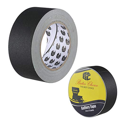 Bates- Gaffers Tape 2 Inch, 23 Yard, Gaffers Tape, Black Gaffers Tape, Gaffing Tape, Black Gaffers Tape 2 Inch, Gaffer, Floor Tape for Electrical Cords, 2 inch Black Gaffer Tape, Gaff Tape, Cable Tape