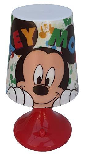 Lámpara Mickey Mouse Disney Mickey Mesita de noche a pilas Paquete regalo – WD21231