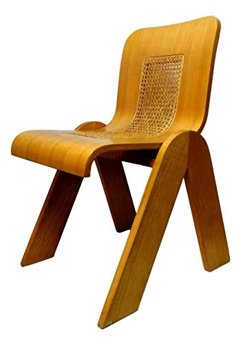 Generico Silla de madera contrachapada curvada de fabricación estilosa, diseño Gigi sabadin 1970