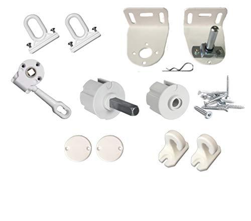 TENDAGGIMANIA Kit completo de accesorios de alta calidad para toldo de caída 5000/s disponible en varios colores y tamaños (kit rodillo diámetro 60 mm, blanco 9010)
