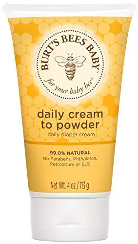 Burt#039s Bees Baby Daily Cream to Powder TalcFree Diaper Rash Cream  4 Ounces Tube