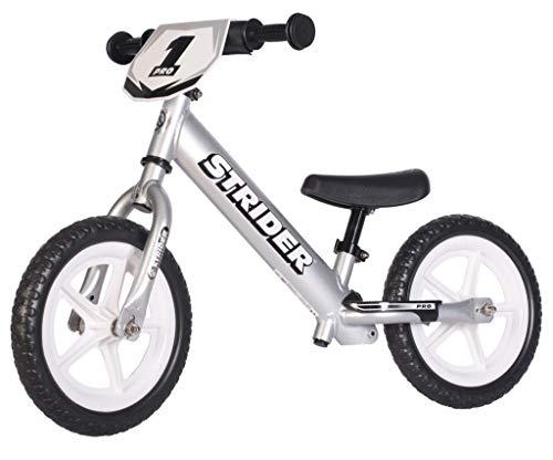 Strider - 12 Pro Loopfiets voor Kinderen (1 - 5 jaar), Ultra Lichtgewicht, Snelle Racefiets voor kinderen – Zilver