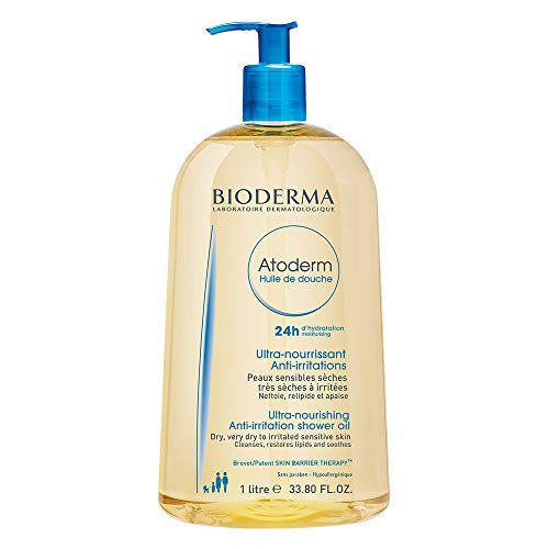 Bioderma Atoderm Moisturizing and Cleansing Oil for Very Dry Sensitive or Atopic Skin 33.8 Fl Oz